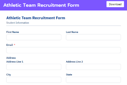 Athletic Team Recruitment Form