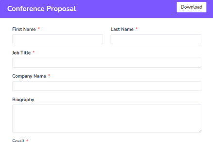 Conference Proposal Form Template