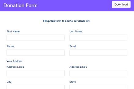 Donation Form Template - Fluent Forms