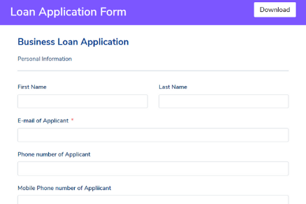 Loan Application Form Template