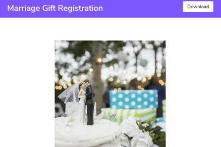 Marriage Gift Registration