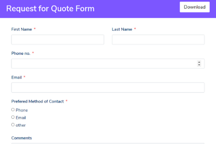 Request for Quote Form Template