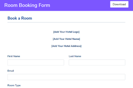 Room Booking Form