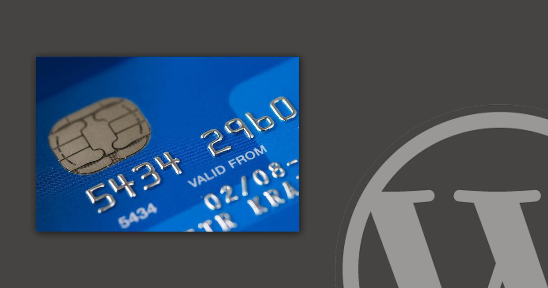 accept credit card in WordPress