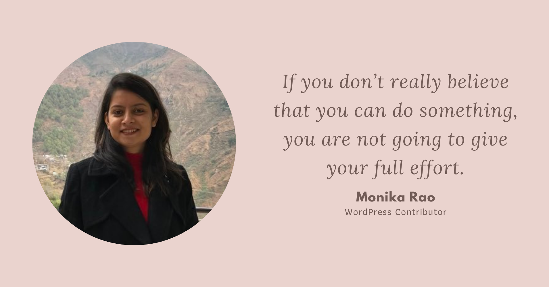Amazing Women in WordPress - Monika Rao