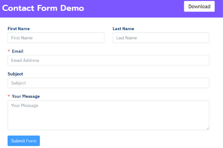 Contact Form Demo