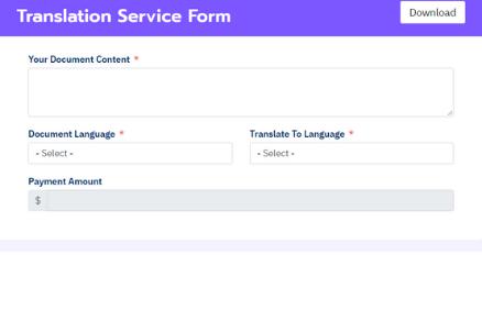 Translation Service Form