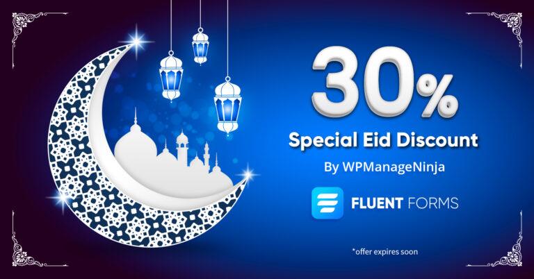 Fluent Forms Eid Discount Offer