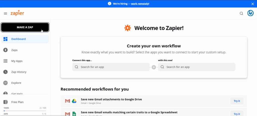 create a zap - Fluent Forms - Capsule CRM integration