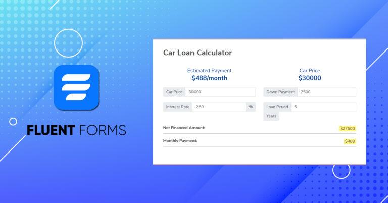 How to Add a Car Loan Calculator in WordPress