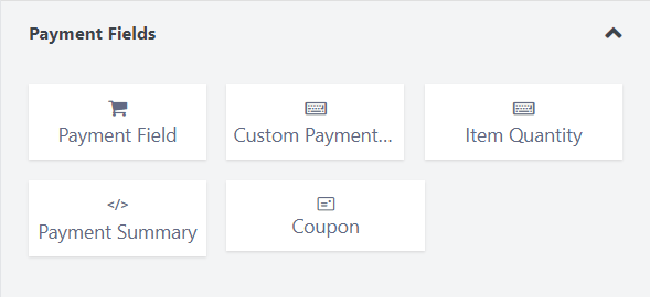 Fluent Forms Pro - payment fields
