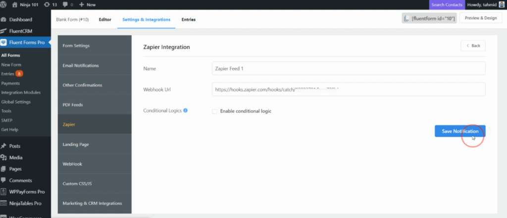 Create a Zapier feed - Fluent Forms Pro