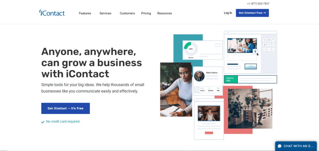 iContact Landing Page Image