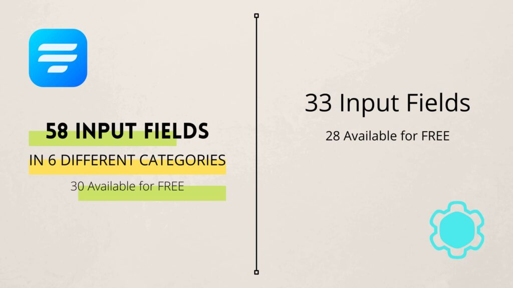 Input field comparison -  Contact Form by Supsystic vs Fluent Forms