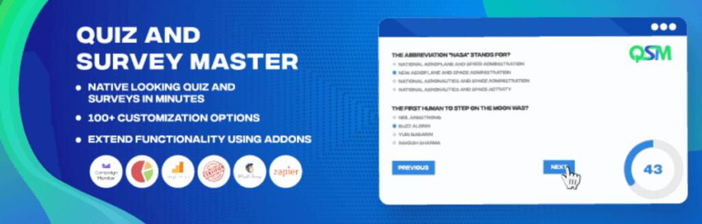 Quiz and Survey Master - WordPress survey plugin