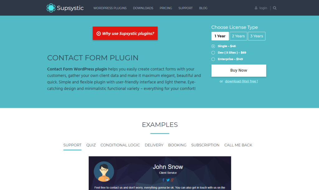 Contact Form by Supsystic - Fluent Forms