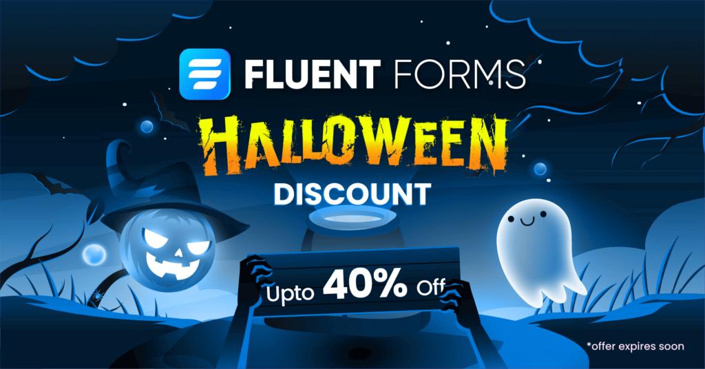 Fluent Forms halloween discount - WordPress discounts